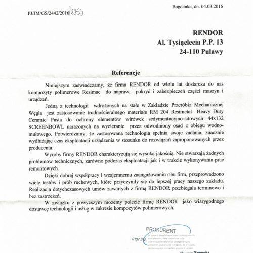 LW Bogdanka RESIMAC