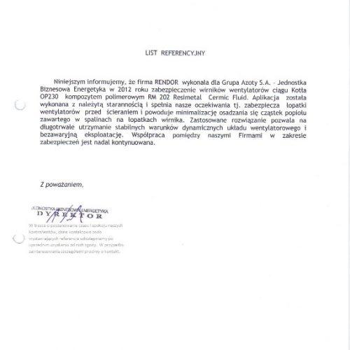 Referencje wentylatory Tarnów