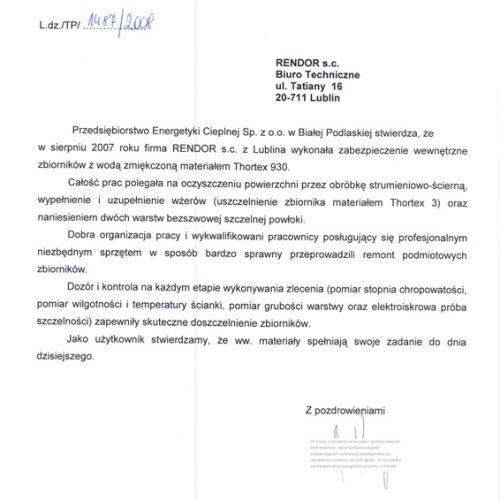 Zbiornik wody PEC Biała Podl
