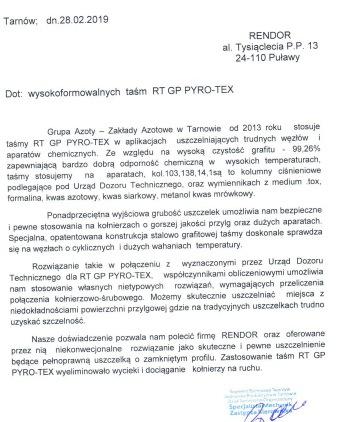 RT GP PYRO-TEX ref chemia