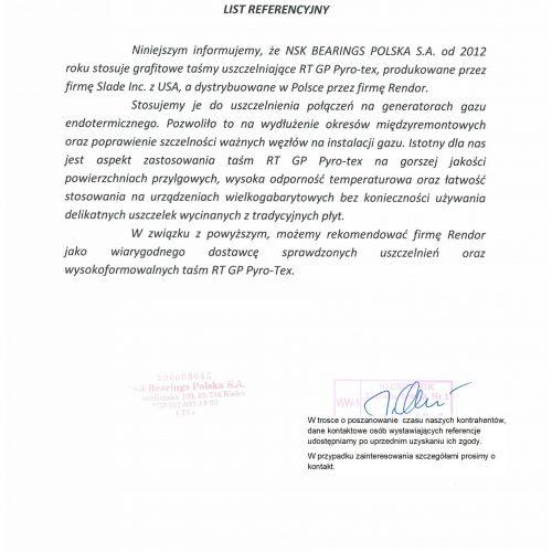NSK PYRO-TEX Referencja